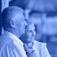 Portrait of amusing old couple on vacation